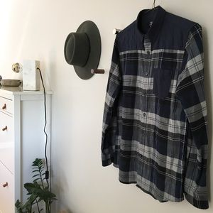 Like NEW! Tartan Flannel Quilted Shirt